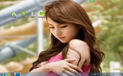 清纯绝色美女电脑主题 win7版 1.0