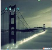 金门大桥电脑主题 win7版 1.0