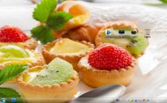 水果蛋挞电脑主题 win7版 1.0