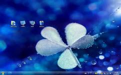花与水珠电脑主题 win7版 1.0