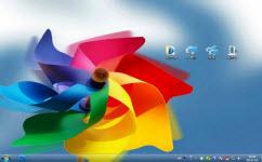彩色风车电脑主题 win7版 1.0