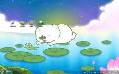 小囧熊抓青蛙电脑主题 win7版 1.0