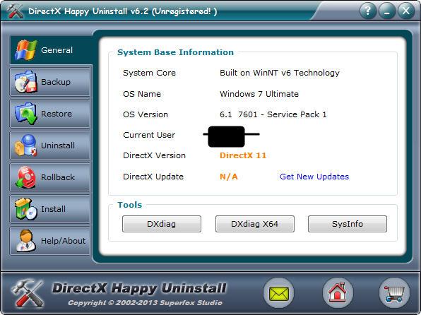 directx卸载工具_DirectX Happy Uninstall