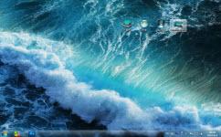 波涛汹涌的大海电脑主题 win7版 1.0