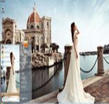 河边唯美婚纱写真win7主题 免费版 1.0