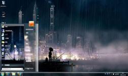 雨幕下win7主题 1.0