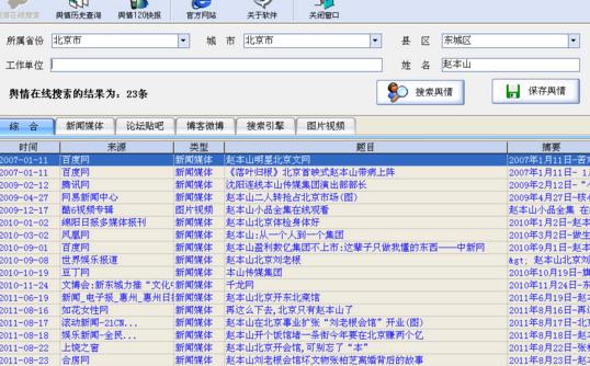 舆情监测软件 1.02 绿色版