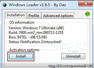 Windows Loader 2.2.1 英文绿色免费版