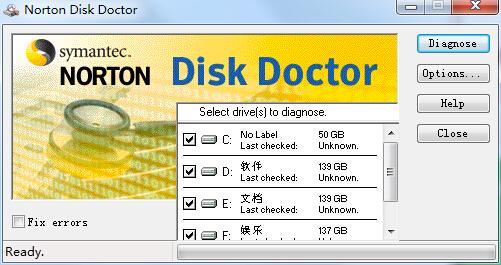Norton Disk Doctor诺顿磁盘医生 中文破解版 1.0