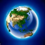 亚洲地形图高清放大版下载 绿色版 1.0