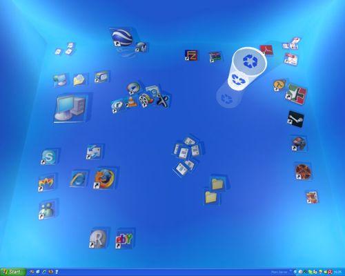 可以把桌面变成真正三维桌面_Real Desktop Light