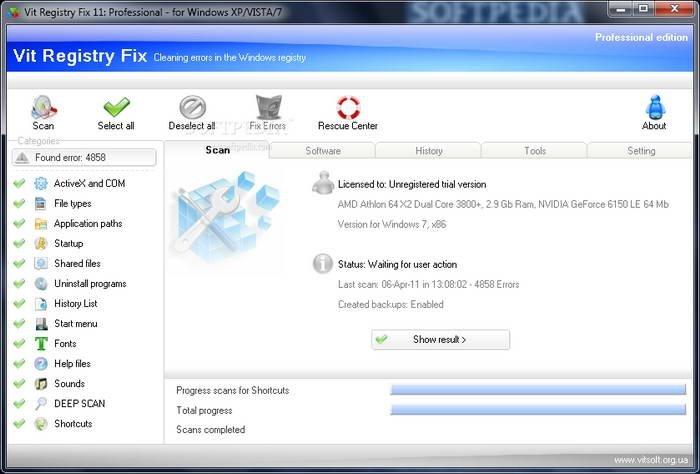 注册表修复工具(Vit Registry Fix)