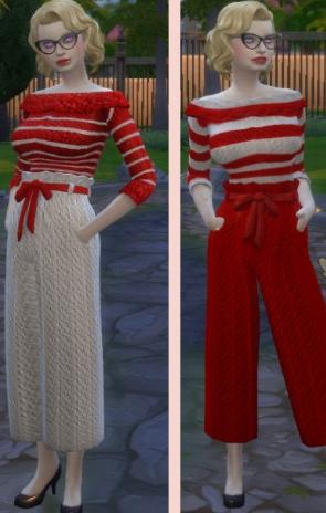 模拟人生4红白色羊毛服装MOD 中文免费版
