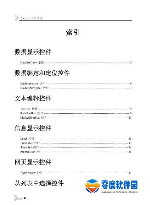 C#控件大全 PDF中文版